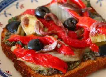 אסקליבדה: ירקות צלויים בסגנון קטלאני Escalivada (ברצלונה)